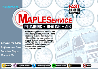 maples plumbing web site redesign