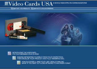 video cards USA web site redesign with flash