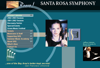 luther burbank center for the arts web site redesign of 1999